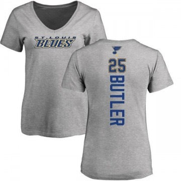 Women's Chris Butler St. Louis Blues Backer T-Shirt - Ash