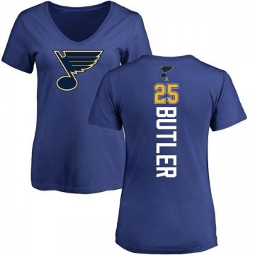 Women's Chris Butler St. Louis Blues Backer T-Shirt - Blue